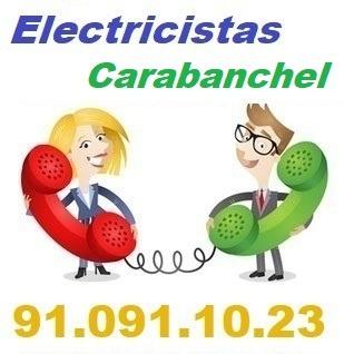 Telefono de la empresa electricistas Carabanchel