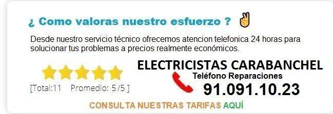 electricistas carabanchel precios